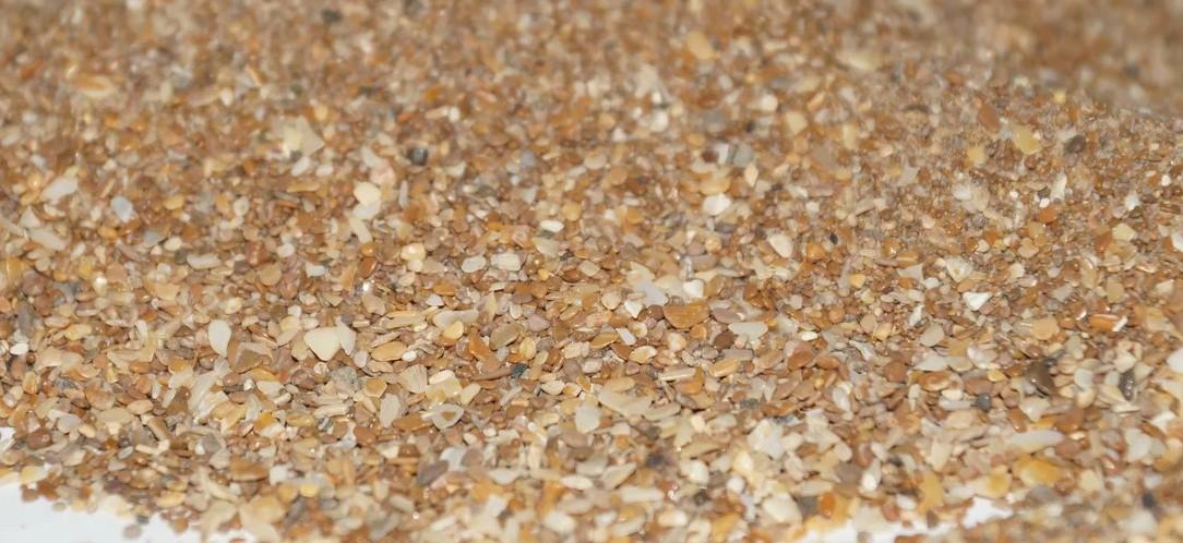 Ракушка морская (чешуйчатый кальцит) 0-3 мм