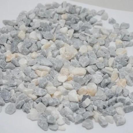 Щебень мраморный 2,5-5 мм серо-голубой